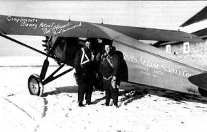 Ted Abram and Pilot Bud Hammond. Photo credit to Abrams Aerial Survey